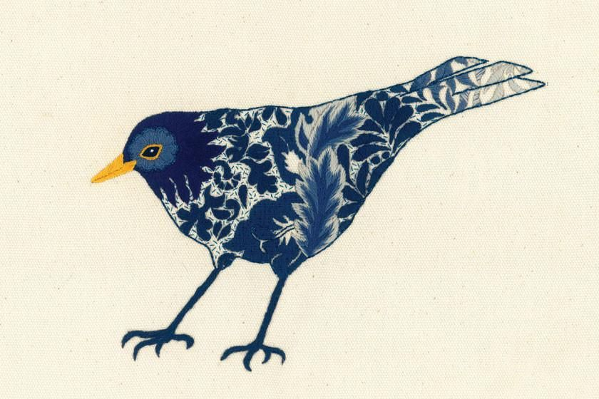 Crewel Midnight Black Bird | Pinterest