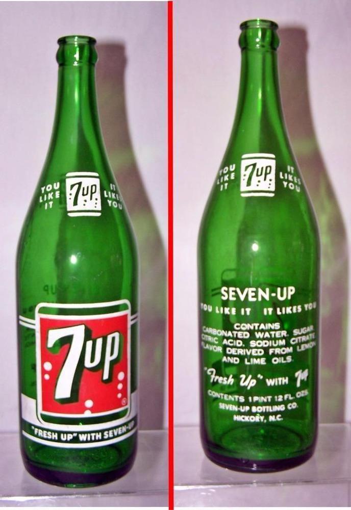 1 Pt 12 Fl Oz Green Soda Bottle