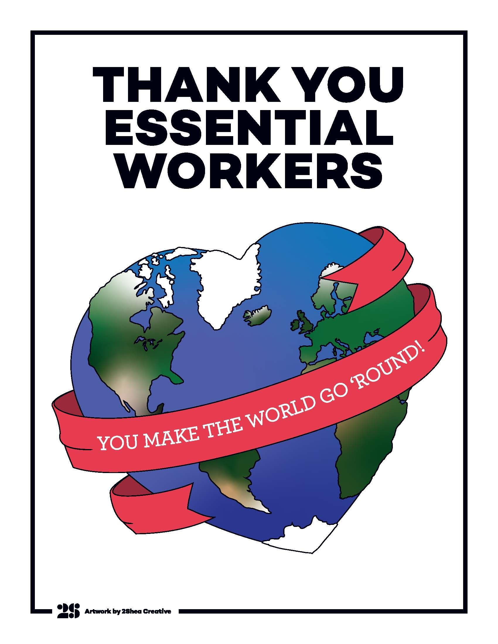 Thank You Essential Workers Nurses Week Quotes Thank You Poster Real Life Heros