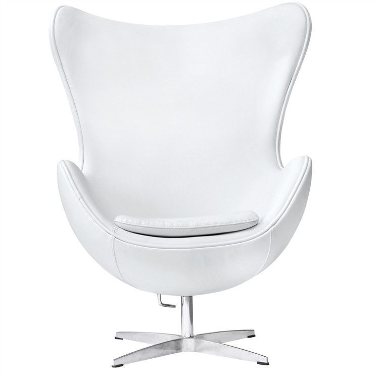 Arne Jacobsen Style Egg Chair White Leather | SILLAS y SOFAS ...