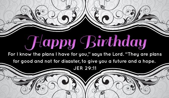 Jeremiah 2911 Ecard Bday party ideas – Personalized Free Birthday Cards