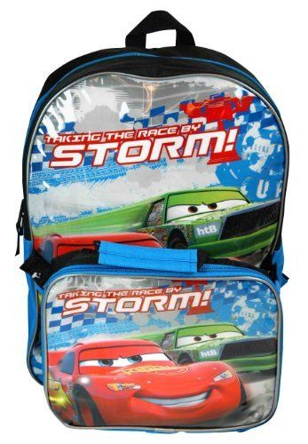 Disney Cars Lightning Mcqueen Large Backpack With