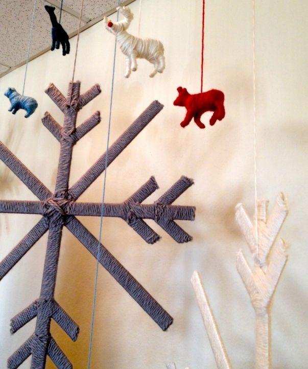 wrap plastic animals - or anything - with yarn