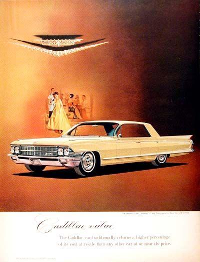 1962 Cadillac Sedan de Ville vintage ad. Cadillac Value.