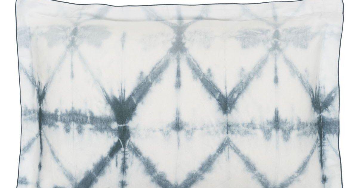 taie d oreiller imprimee tie dye en satin de coton seraya