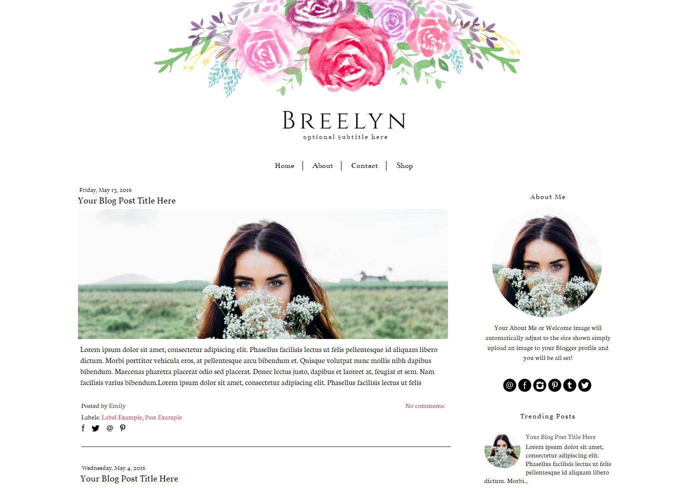 Ungewöhnlich Blog Header Vorlage Fotos - Entry Level Resume Vorlagen ...