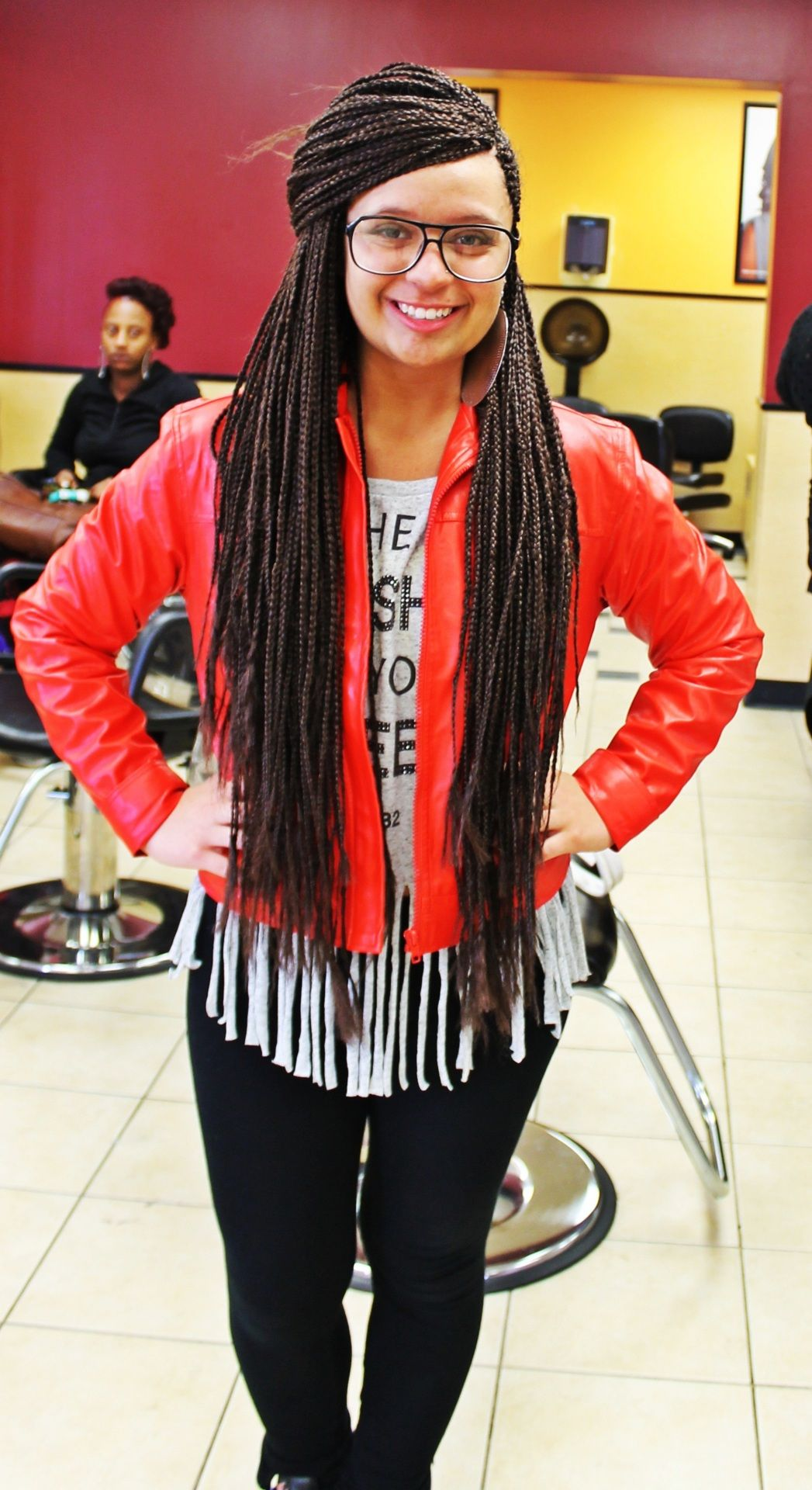 Me In My Box Braids A Rare Find A White Girl Who Can Pull Them