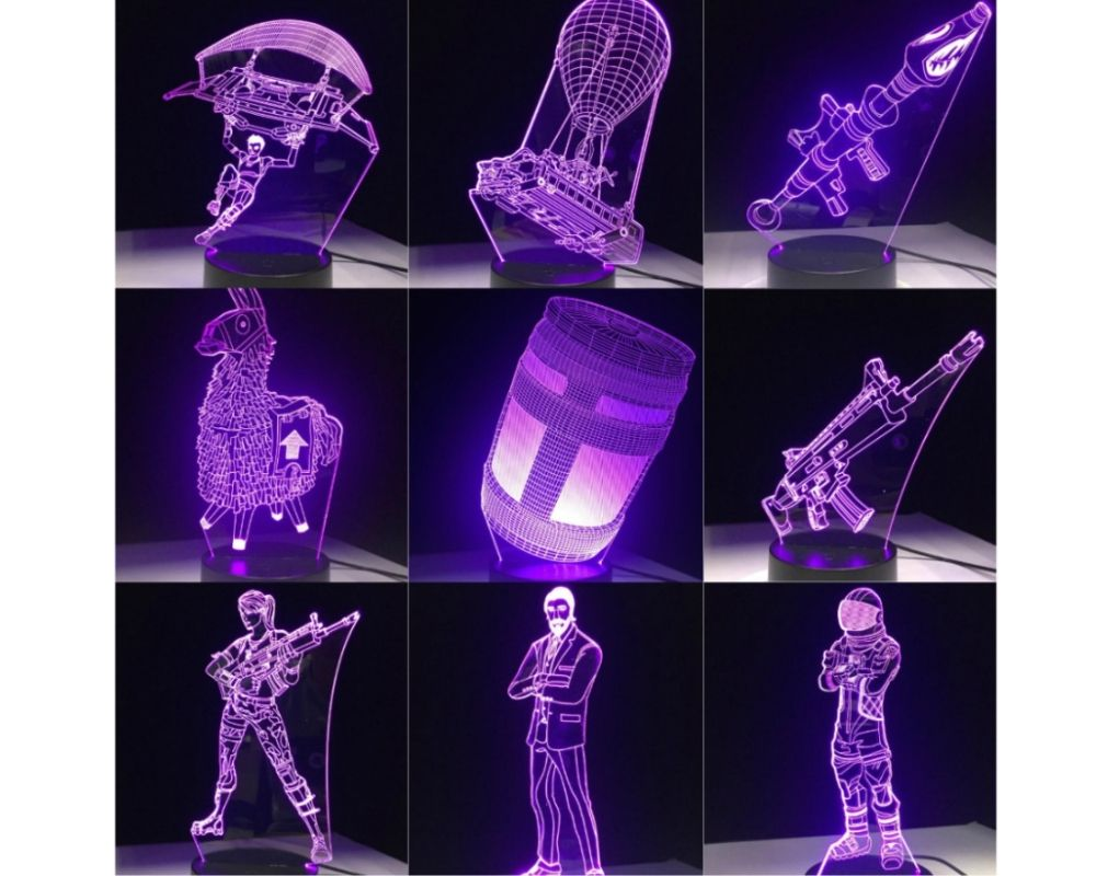Lampe De Bureau 3d Led 7 Couleurs Tactile Fortnite Prix 23 12 Livraison Gratuite Nintendoswitch Desk Light Lamp 3d Led Lamp