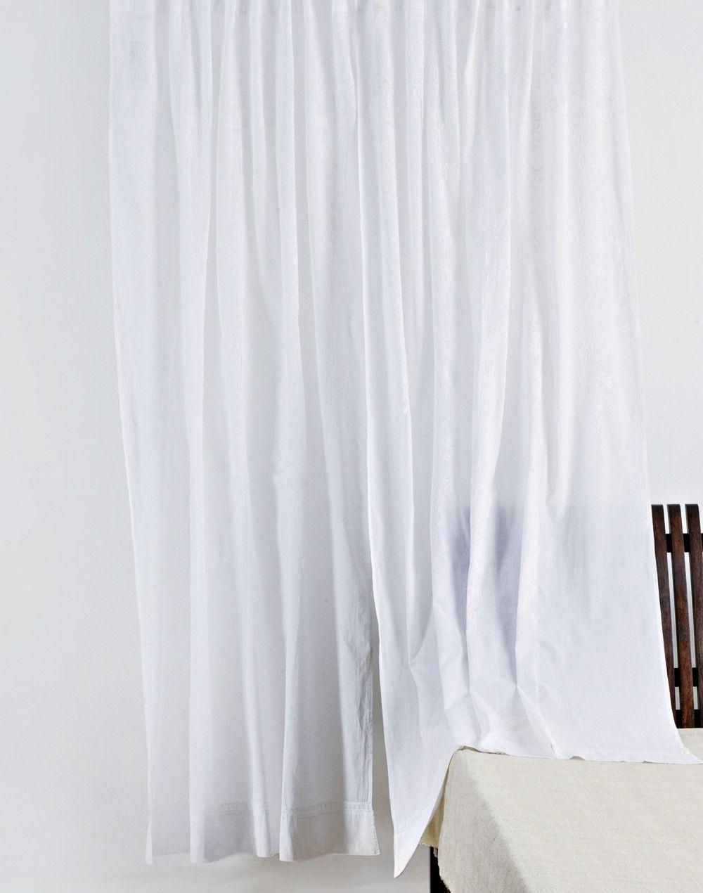 Fabindia Com Cotton Chikankari Aamna Curtain