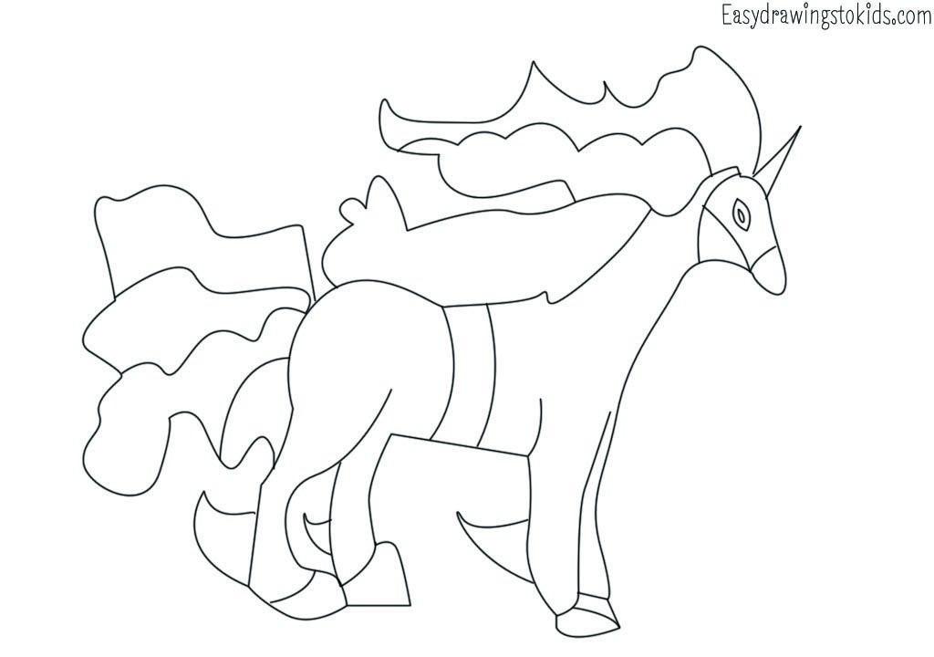 Rapidash Pokemon Drawing Pokemon Coloring Pages Pokemon Coloring Coloring Pages