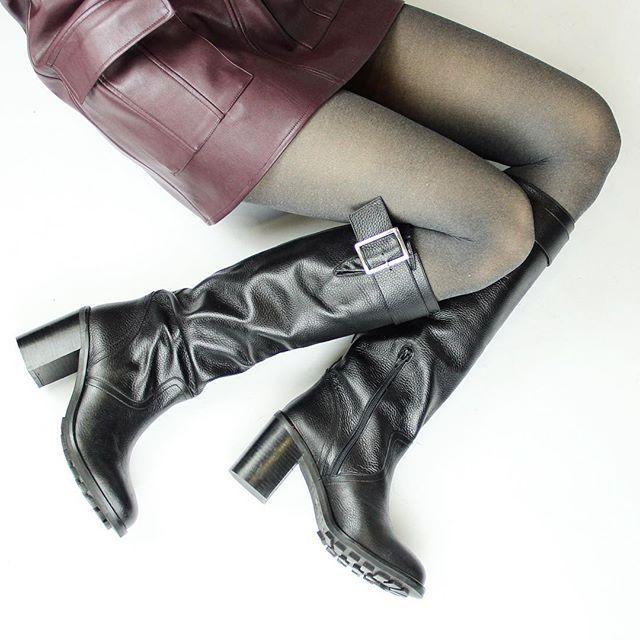 Bottines motardes cuir noir Jonak
