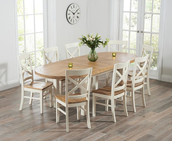 The Chelsea Oak Cream Extending Dining Table With Cavendish Chairs At Furniture Super