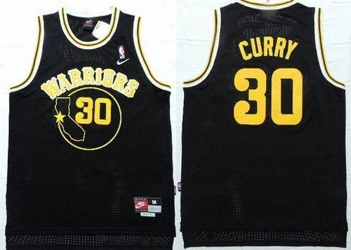 d4139c94314 ... Warriors 30 Stephen Curry Black Nike Throwback Stitched NBA Jersey ...