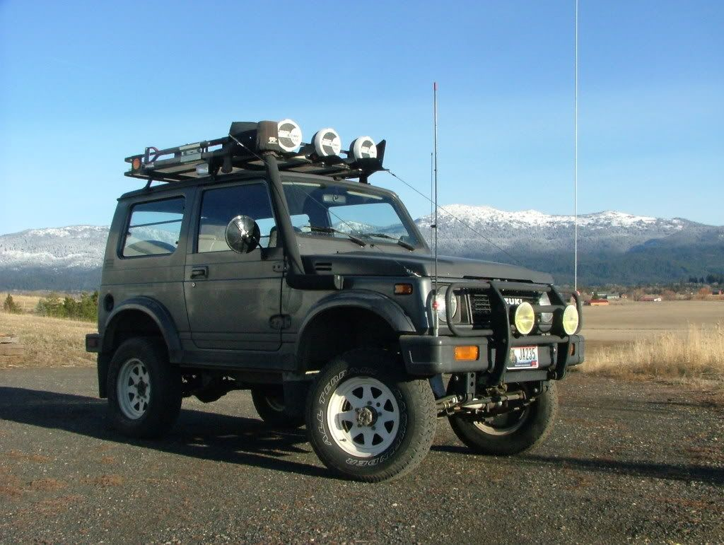 Samurai With Arb Bumper Roof Rack And Snorkel
