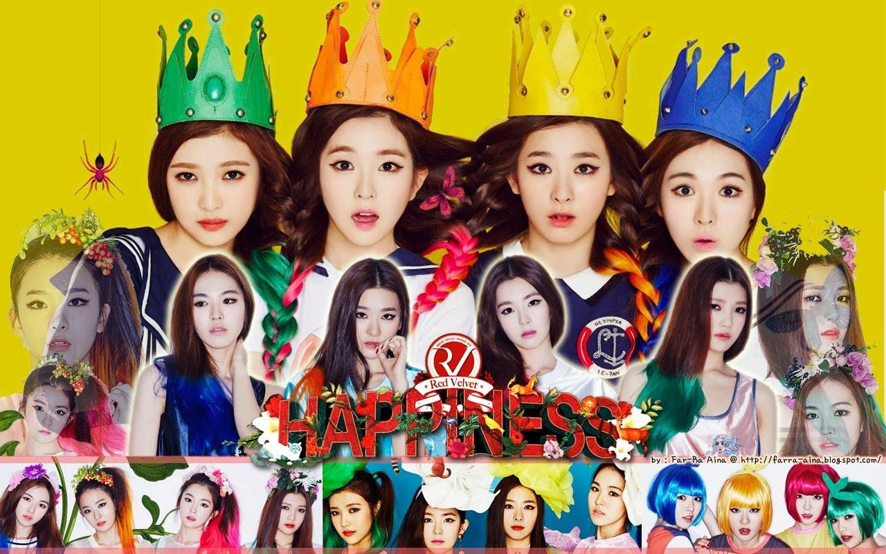 K Pop Lover Red Velvet Happiness Wallpaper Velvet Wallpaper Red Velvet Velvet