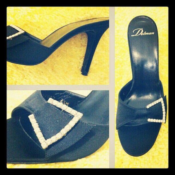 #Delman blinged-out black satin evening sandals sz 6.5 #shoecandy #majorbling #sexy #bling #pricedtosell #instashop  #cashinyourcloset #tribeca #consignmentshop #consignment #nyc #statenisland #blackshoes #eveningshoes - @resaleriches- #webstagram