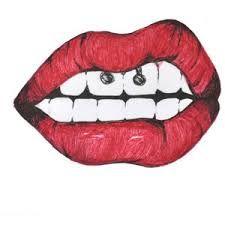 Resultado de imagem para tumblr cartoons lips red