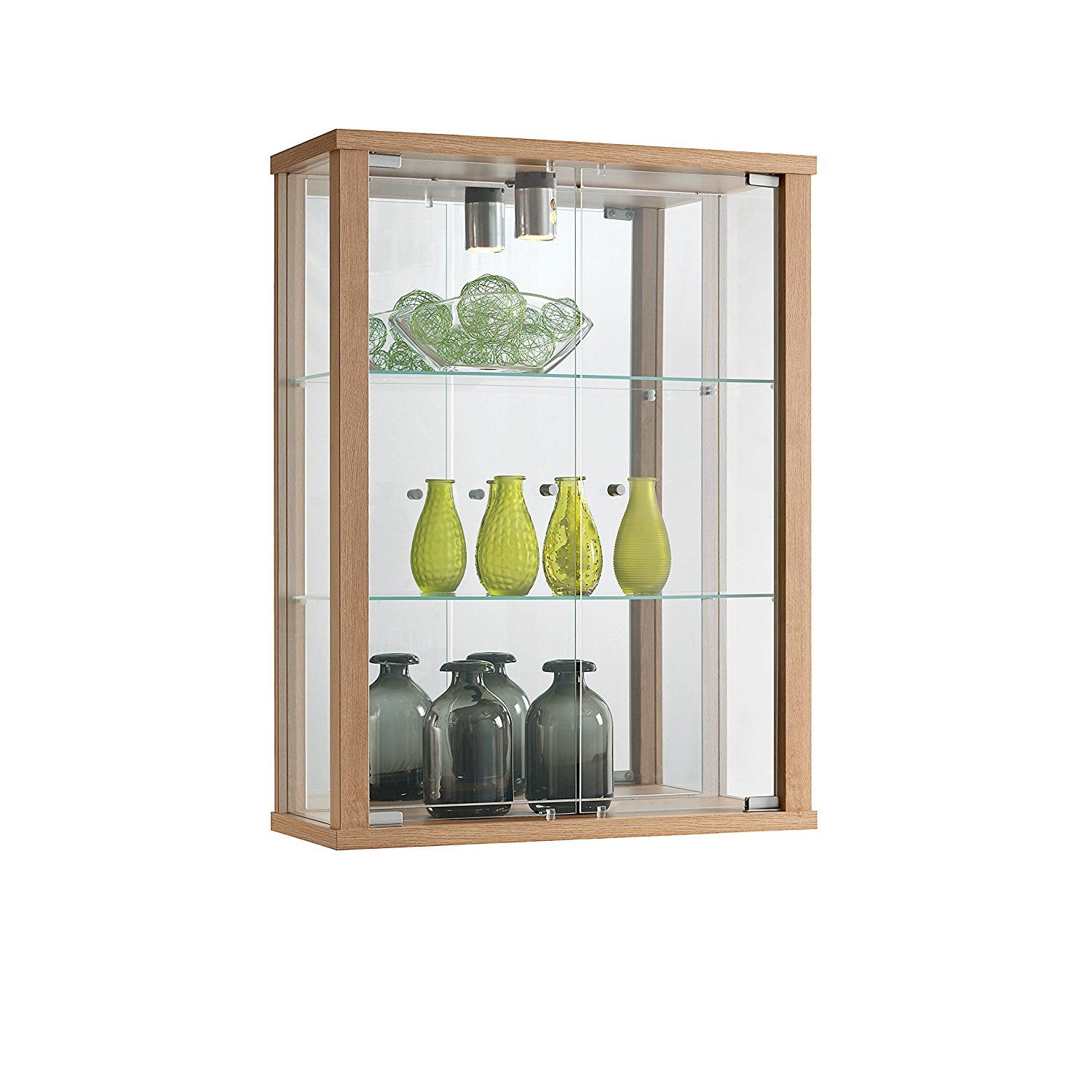 ENTRY PLUS Wall Mounted Lockable Glass Display Cabinet in ...