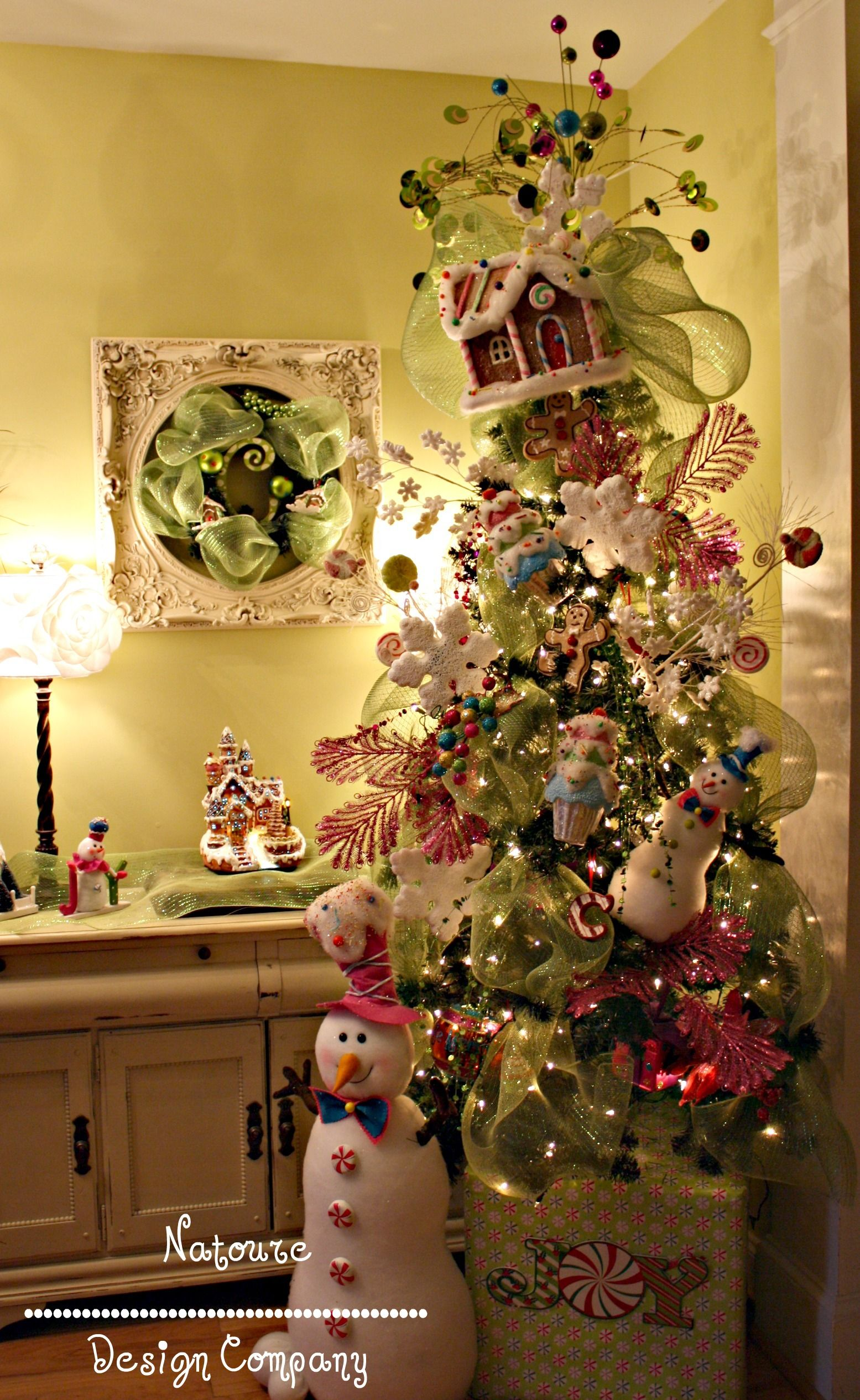 Whimsical Gingerbread Theme Tree Whimsical Christmas Trees Whimsical Christmas Holiday Christmas Tree