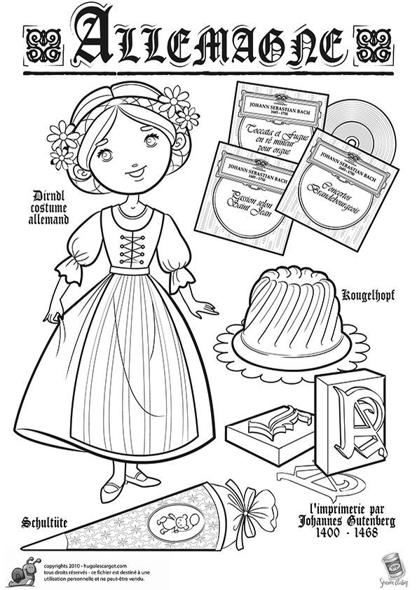 Image Result For Girl In Dirndl Coloring Page Coloring Pages