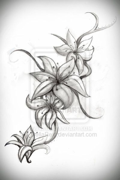 Tattoo for my daughter lilly not sure where to put it for Lily rose designer