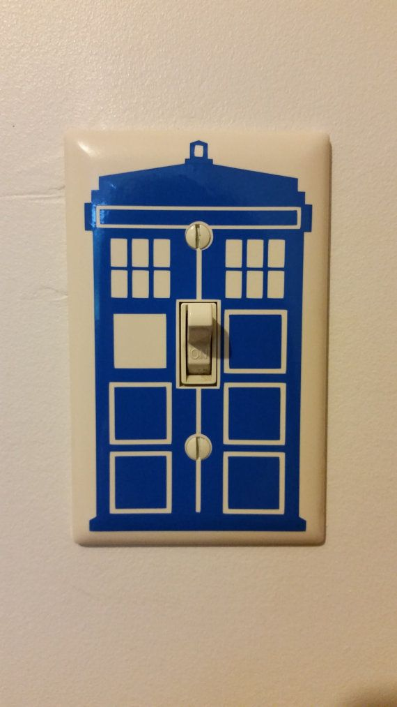 Tardis Light Switch Decal Doctor Who Vinyl By WoodlandVinyls