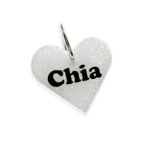 Smaller heart tag, the perfect size for cats and small/ medium sized dogs!