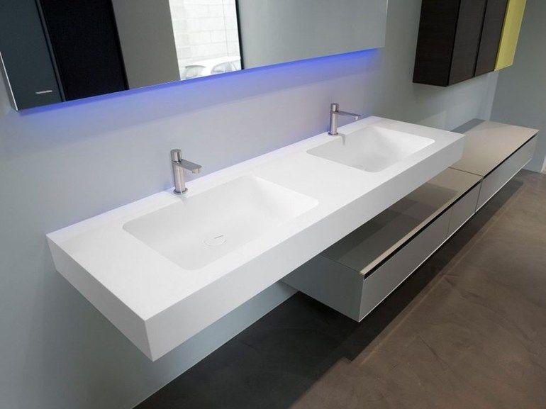Piano lavabo in Corian® ARCO by Antonio Lupi Design® | design Nevio ...