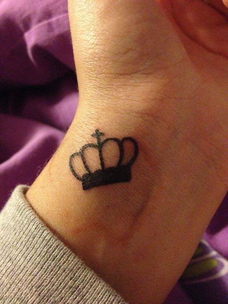 crown tattoos on wrist google search cute tattoos. Black Bedroom Furniture Sets. Home Design Ideas