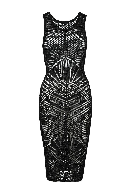 Tally Weijl - Black Knitted Sheer Maxi Dress  901ff4e5df9