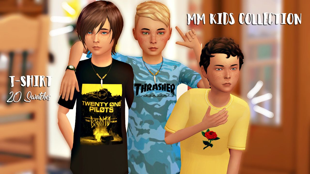 Boys Tshirts | Tops | Tops | Sims 4, Sims 4 children, Sims 4