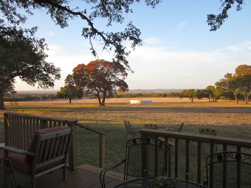 View From The Porch At Pedernales Cellars Near