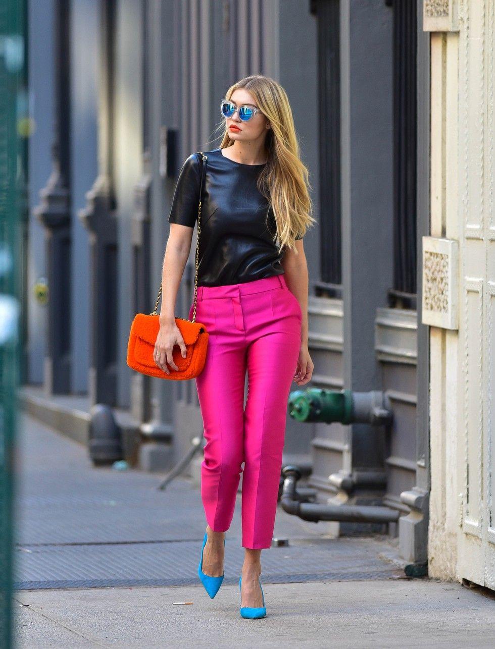 Thanks hot pink pants