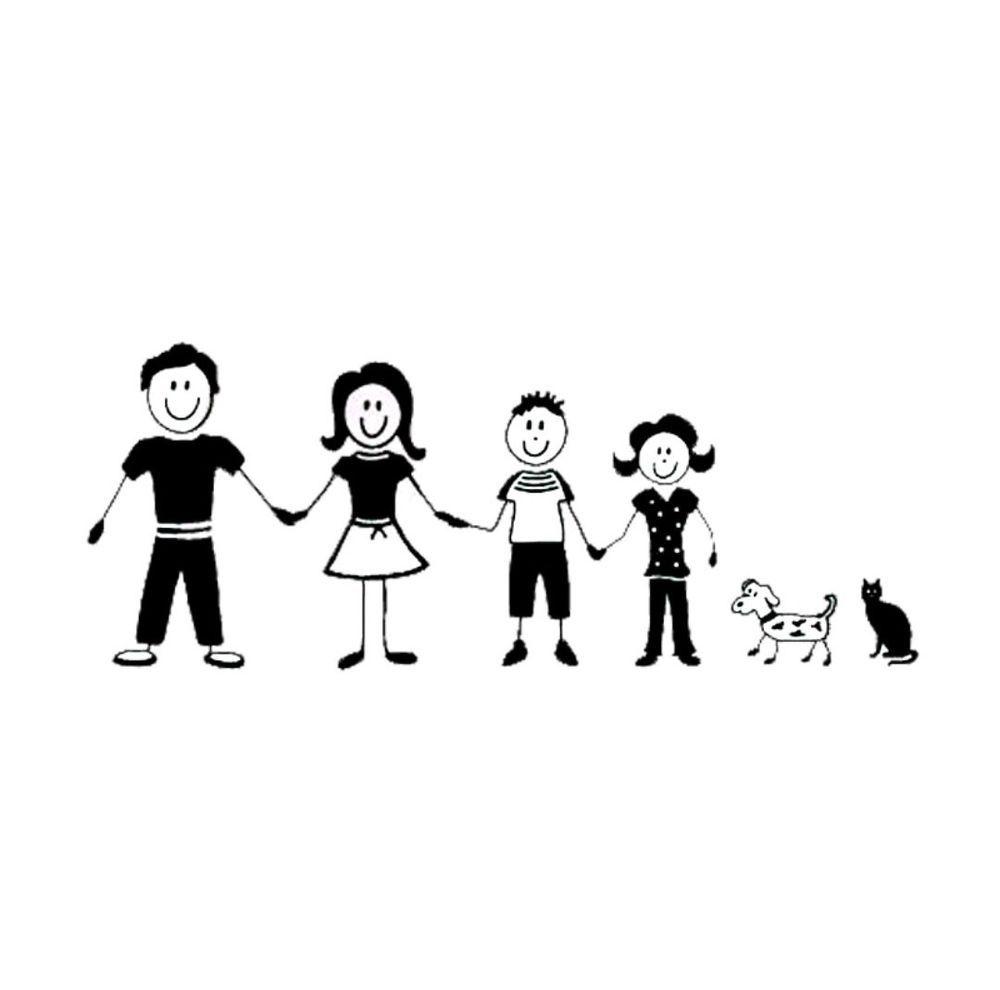 My Family Car Decal Sticker Dad Mom Boy Girl Dog Cat Family Car - Family car sticker decalsfamily car decals ebay