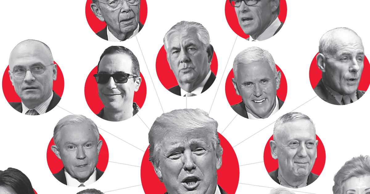 Trumpu0027s $6 Billion Cabinet: Mostly Men, Mostly White And Not Much  Government Experience
