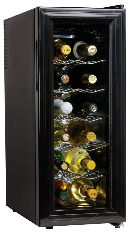 12 Bottle Thermoelectric Slim Wine Cellar Wine Refrigerator Thermoelectric Wine Cooler Wine Cellar