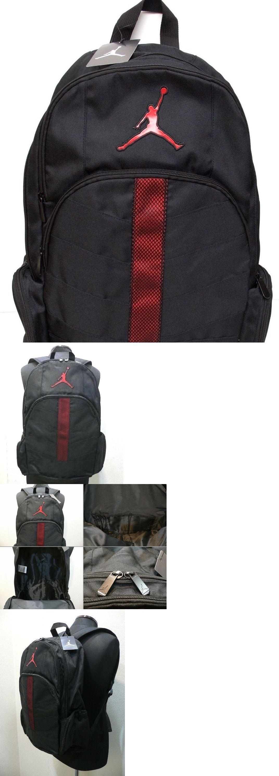 Bags And Backpacks 163537 Nike Air Jordan Jumpman Gym Book Backpack Laptop Bag Black Red