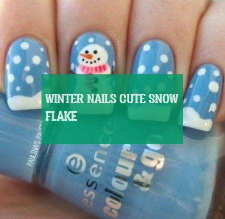 Flocons De Neige Mignons D'hiver Winter Nails Cute Snow Flake