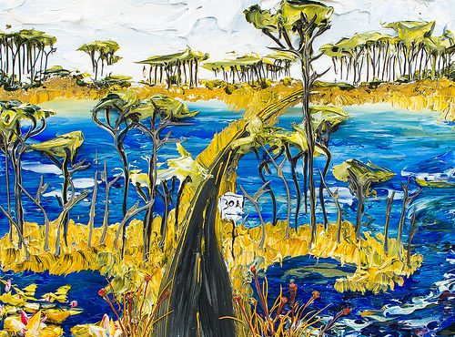 24x18 Lakescape By Justin Gaffrey