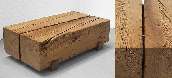17 beste ideeën over table basse bois massif op pinterest ... - Meuble Bois Massif Design