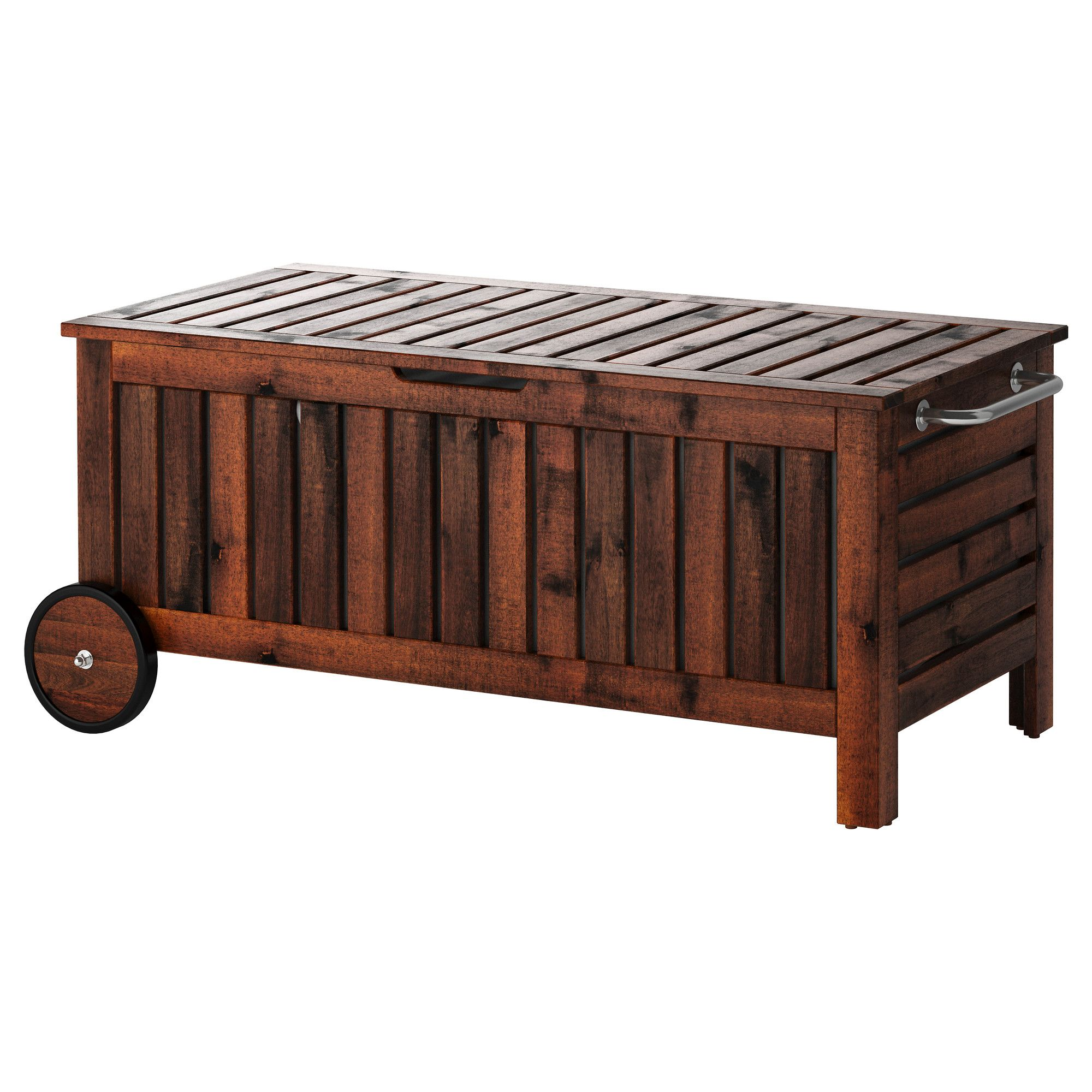 """""""PPLAR– Storage bench outdoor brown stained brown"""