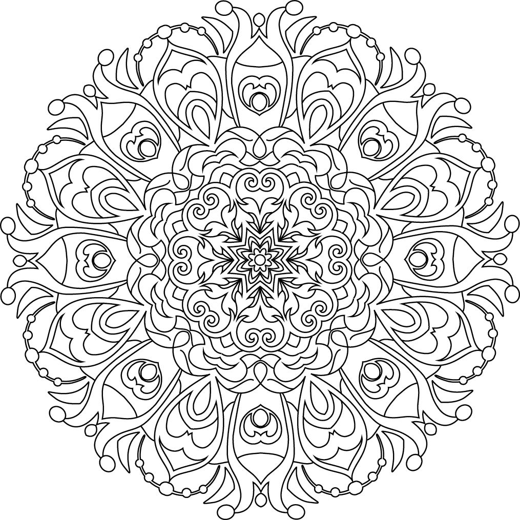 Pin by i heart coloring on adult coloring books coloriage coloriage adulte mandala - Coloriage bricolage ...