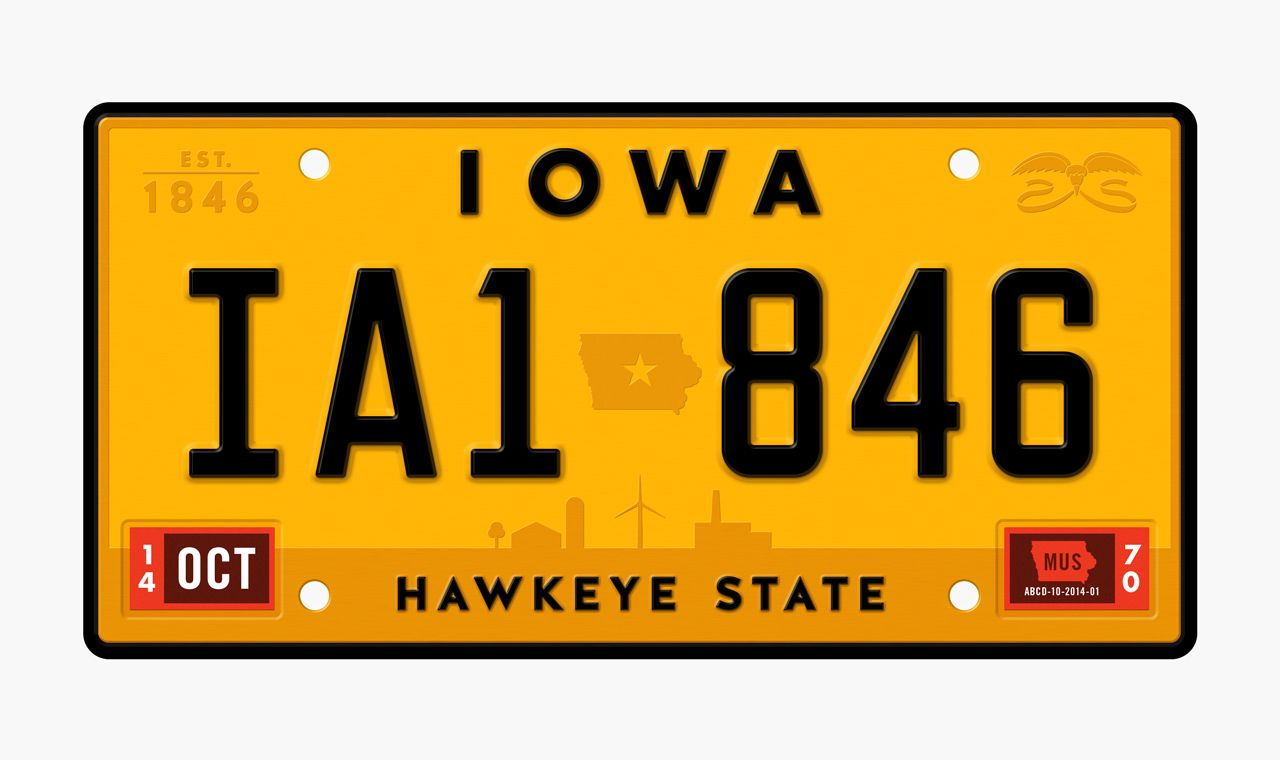 Iowa by Jacob Etter Researching historical Iowa license plates, I ...
