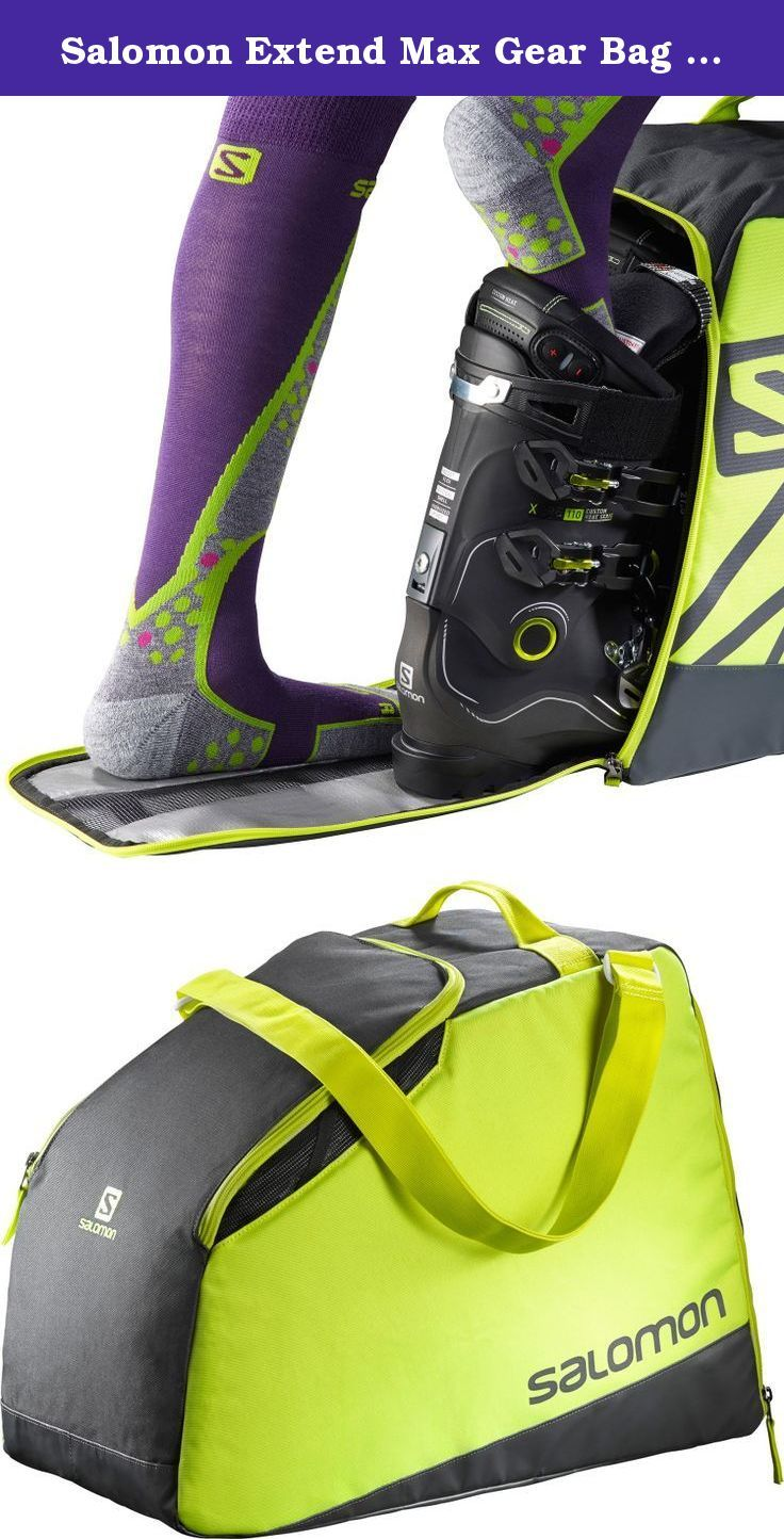 ac9567059a Salomon Extend Max Gear Bag Asphalt   Yuzu Yellow One Size. FEATURES of the  Salomon