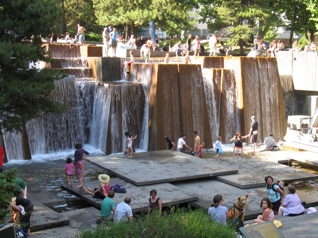 Portland fountain plazas by worldrenowned landscape