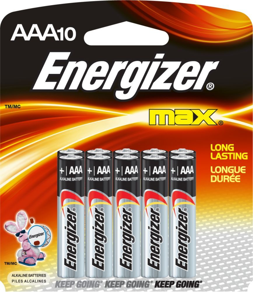 Max Aaa Battery 10 Pack Energizer Battery Energizer Batteries