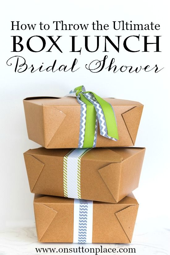 Diy Box Lunch For A Picnic Or Party  Box Lunches Bridal Showers