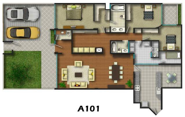 Planos de viviendas en edificio y condominios video 3d - Planos de viviendas ...
