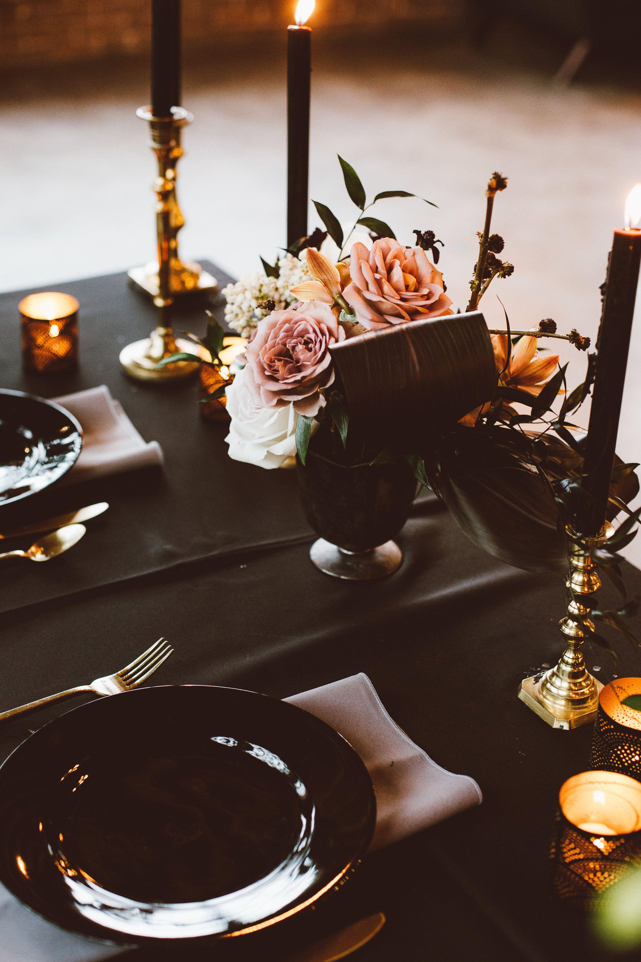 Dark + Moody Garden Wedding Shoot at Moss Denver