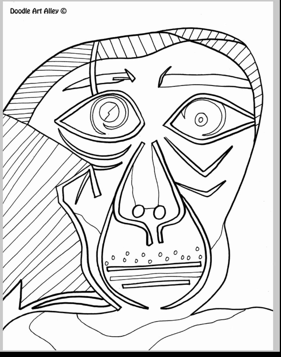 Picasso Coloring Pages Printable Lovely Pablo Picasso Coloring Pages Download Coloring For Kids 2019 In 2020 Picasso Coloring Coloring Pages Kandinsky Coloring